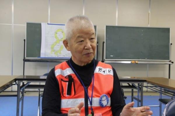 加曽利貝塚「ボランティアガイドの会」副会長の押尾さん