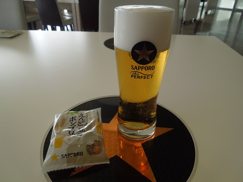 サッポロビールの工場見学で試飲できるビールとおつまみ