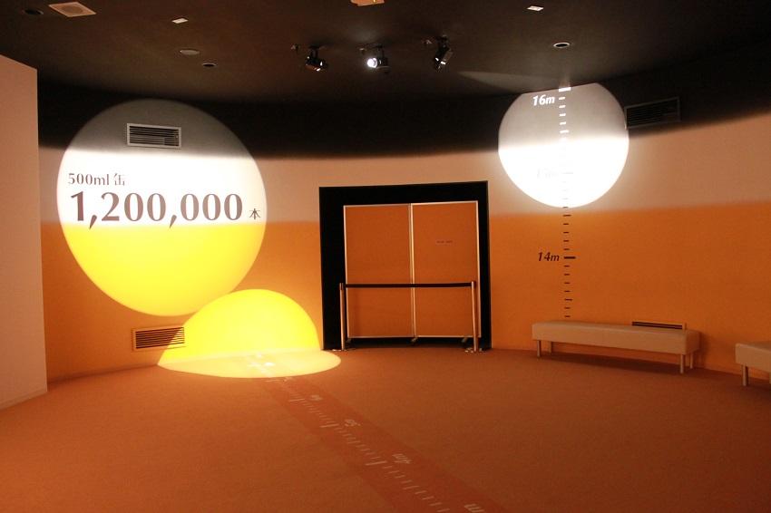 サッポロビール工場見学ツアーで入れる発酵タンクと同じ大きさの部屋