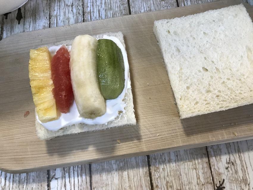 フルーツサンド作り方