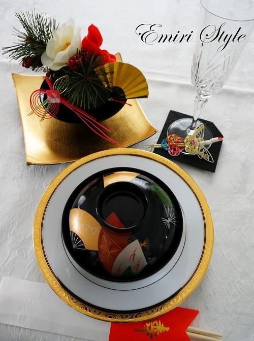 お椀と100均雑貨を上手に使ってお正月のテーブルコーディネート。
