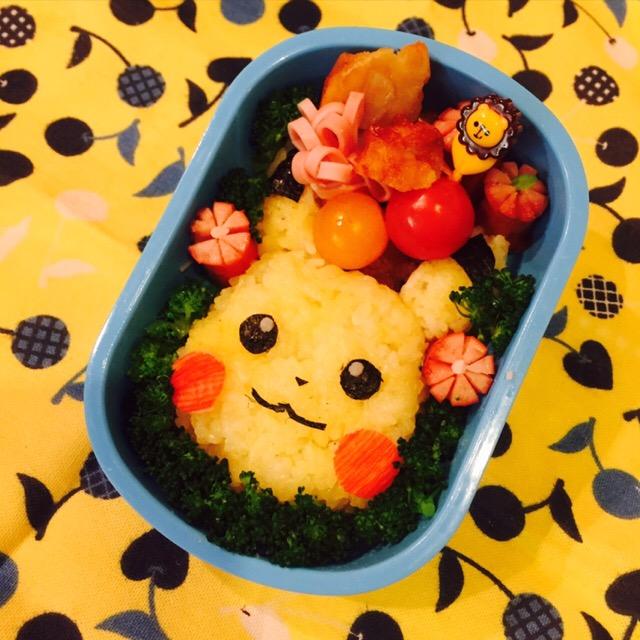 野菜嫌いを克服するかわいいピカチュウのキャラ弁