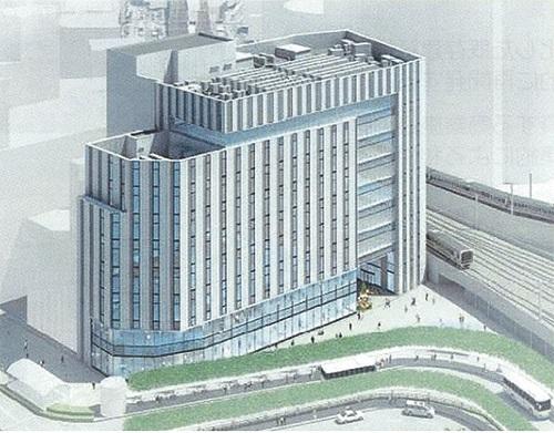 千葉駅東口地区市街地再開発組が開発を進める複合商業施設(イメージ図)