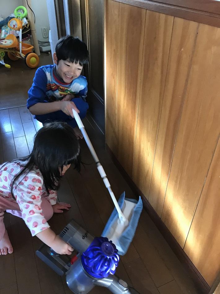 子ども専用お掃除グッズで楽しくお掃除