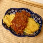 手作りミートソースを使った野菜オムレツ