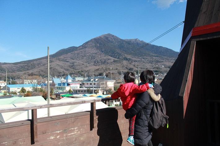 つくばわんわんランド展望台からは筑波山が堪能
