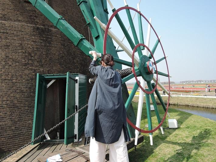 佐倉ふるさと広場の風車「リーフデ」で風車守を体験