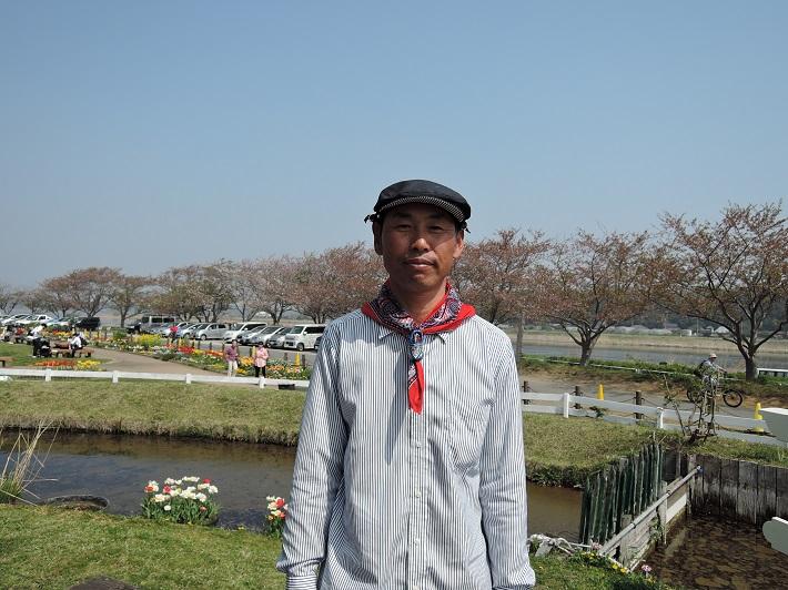 佐倉ふるさと広場の風車「リーフデ」の風車守を務める大谷さん
