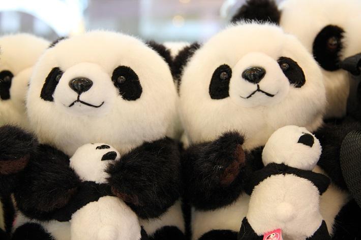 上野動物園お土産、パンダの親子HUG