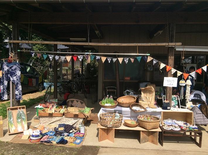 白井の古民家で、3カ月に1度、こだわりのファーマーズマーケットが開催されている