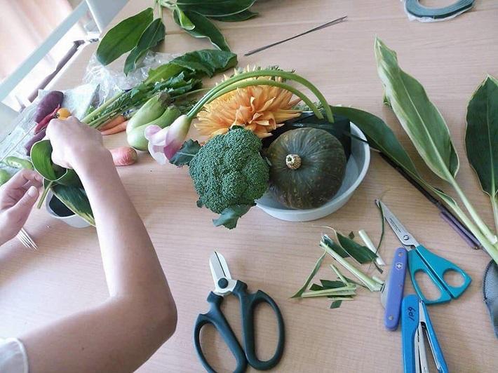 春日部の「おいしい」を見つけるイベント KASUTABE(かすたべ)(野菜を使った「ベジタブルアレンジメント」のワークショップ)