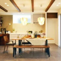 柏の葉キャンパスのモデルハウスはキッチンが中心のキッチンダイニングリビングという間取りを採用しています