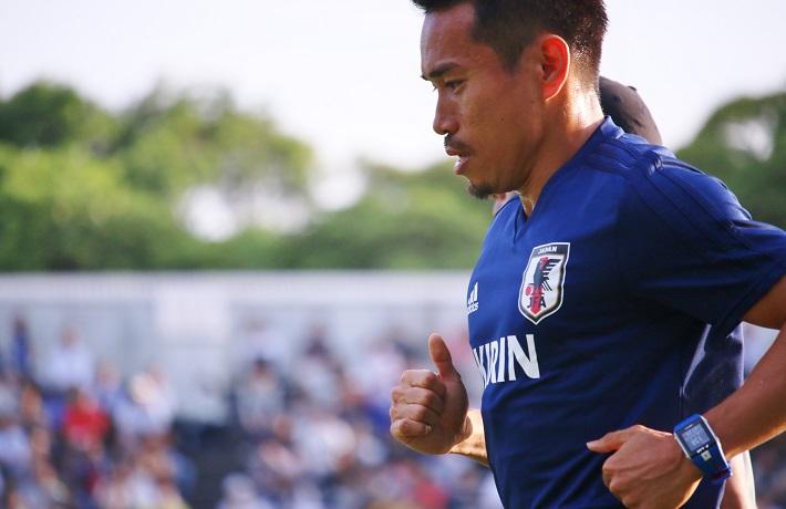 サッカー日本代表長友佑都選手が、ワールドカップ直前キャンプに参加
