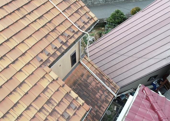 ドローンでの点検は、家の外壁の細かいところまで撮影できます