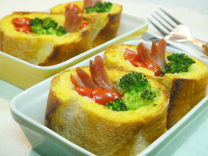 子供が喜ぶ夏休みレシピ!キッシュ風フレンチトースト
