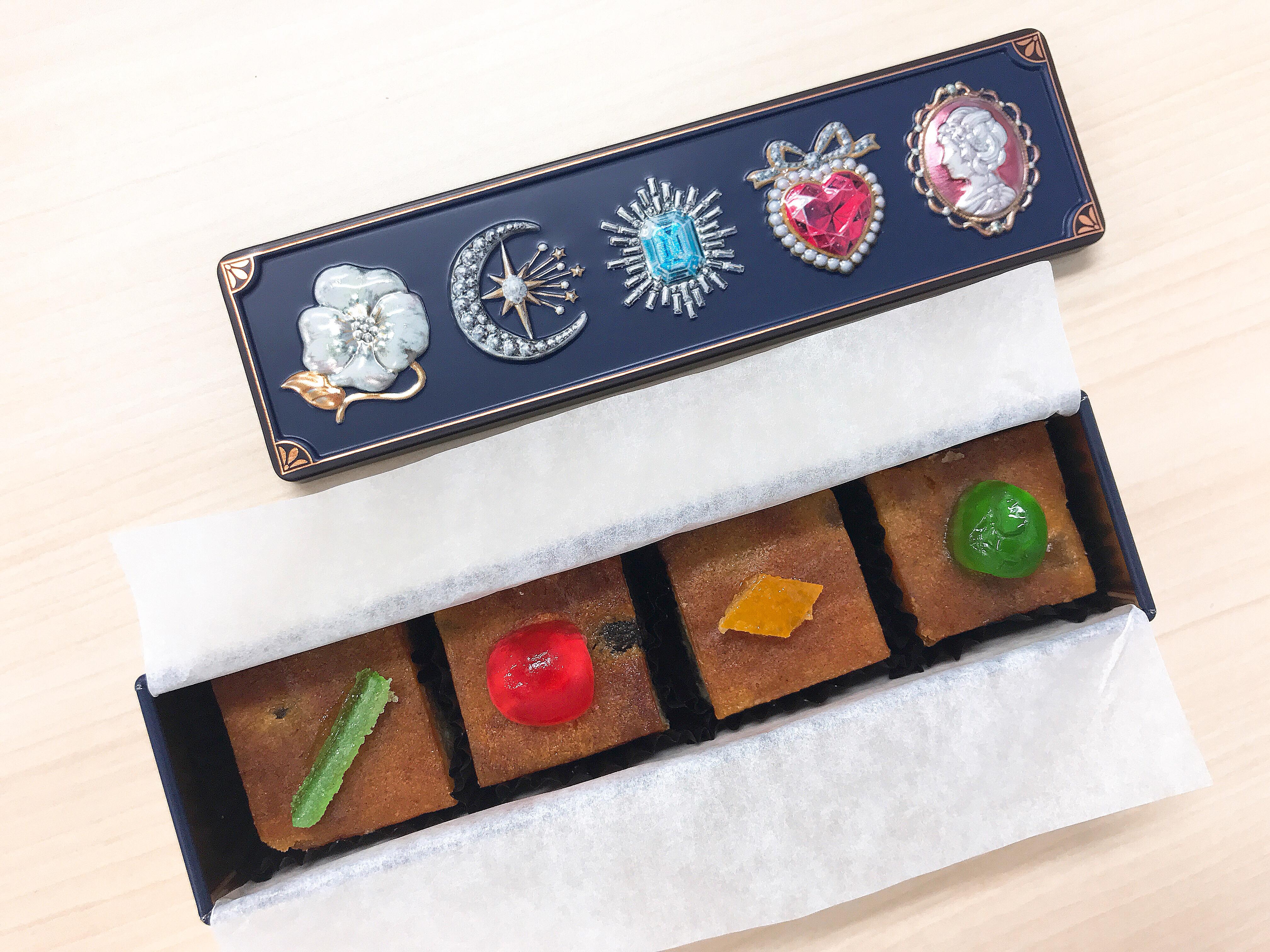 八千代市のタマミィーユの缶入りお菓子「キャトルビジュー」