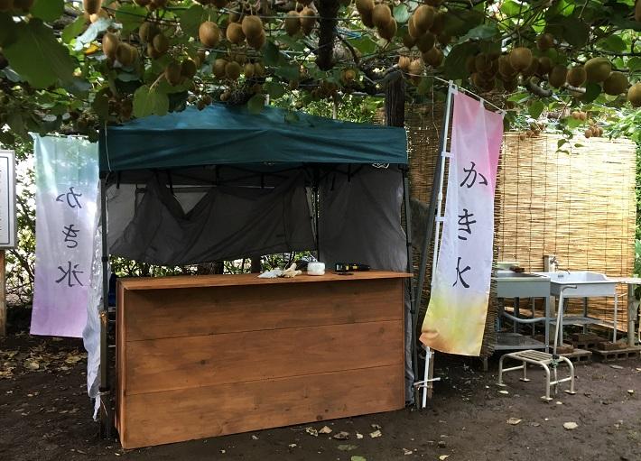 千葉県松戸市「初清園」ではかき氷の販売も