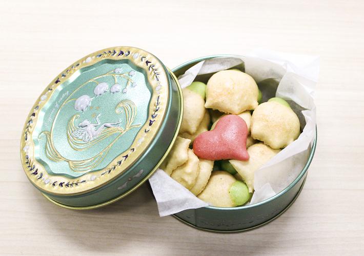 八千代市タマミィーユの缶入りお菓子「スズランの雫」