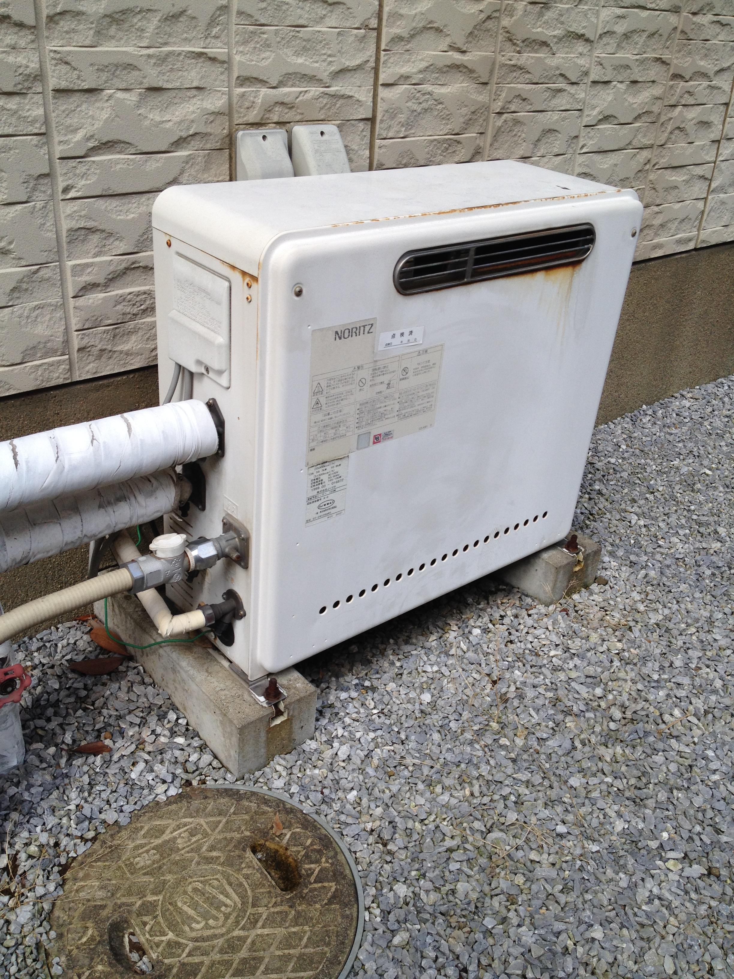 千葉都市ガスサービスの給湯器(BEFORE