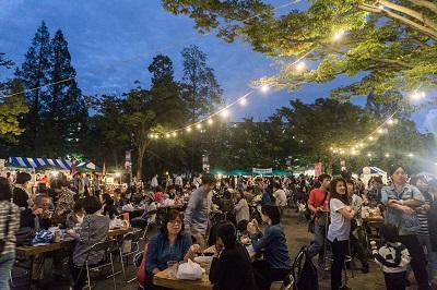 千葉県松戸市の収穫祭プラスinしんまつど ファーマーズマーケット& ビアフェスタの様子
