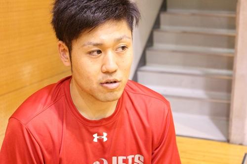 千葉ジェッツ 田口成浩選手のインタビュー