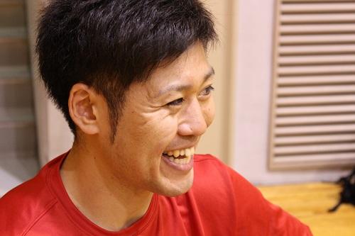 千葉ジェッツ 新加入選手 田口成浩選手インタビュー中の笑顔