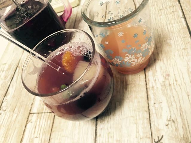 サングリア作り方 グレープフルーツジュースを足してアレンジ
