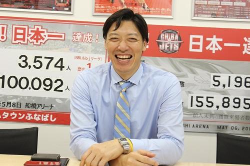千葉ジェッツ フロント伊藤俊亮さんインタビューの笑顔