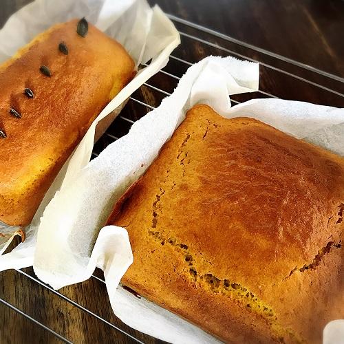 ホットケーキミックスかぼちゃケーキ焼き上がり