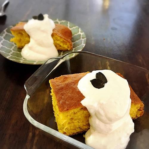 ホットケーキミックスかぼちゃケーキは混ぜるだけの簡単レシピ