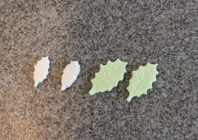 マシュマロフォンダント作り方 ヒイラギの形に