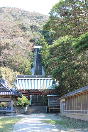千葉県館山市 洲崎神社階段