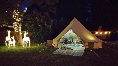 Hale Luana(ハレ・ルアナ)1日1組限定の完全プライベートなドッグラン付キャビンは、グランピングテントも無料で利用できます