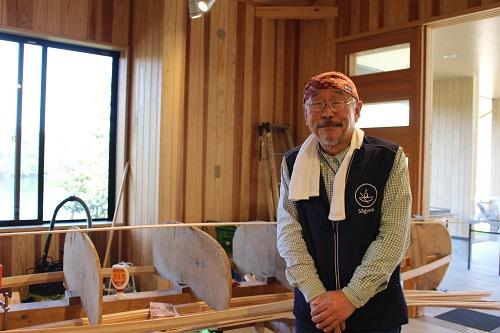 ソグベルクのオーナー山田さんは名栗湖でカヌー工房を運営