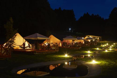 THE FARMキャンプ(ザ ファーム キャンプ 千葉県香取市)リバーサイド夜景