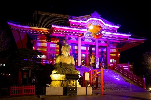 関東の初詣におすすめの円福寺(飯沼観音)、年末年始はライトアップも
