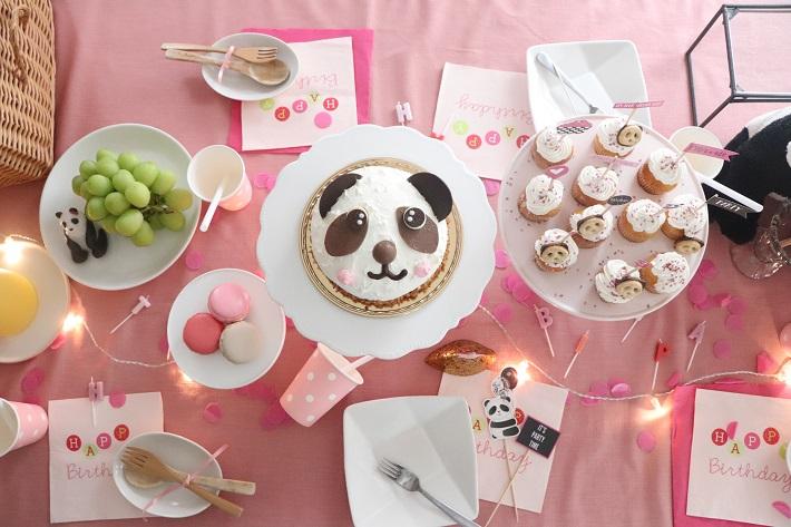 ホームパーティーアイデア_女の子の飾りつけ(パンダ)