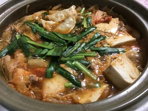 コストコ 冷凍生餃子を使用した鍋