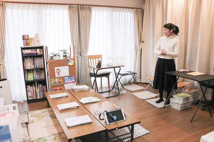 千葉市の自宅で学研教室を開室している先生とリビング