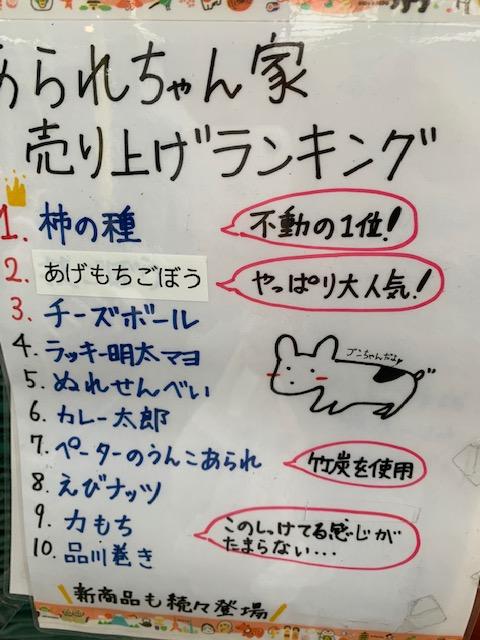 あられちゃん家の人気商品トップ10