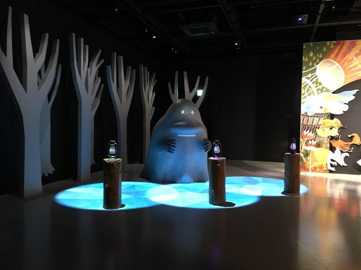 飯能市のムーミンバレーパーク内コケムス3Fではインタラクティブな体験を通じて物語の世界に入り込める