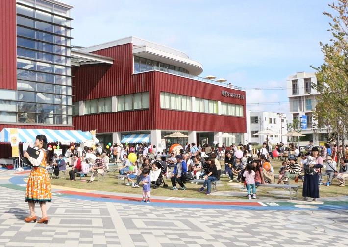取手ウェルネスプラザと取手駅前で開催される「取手駅前にぎわいフェスタ」