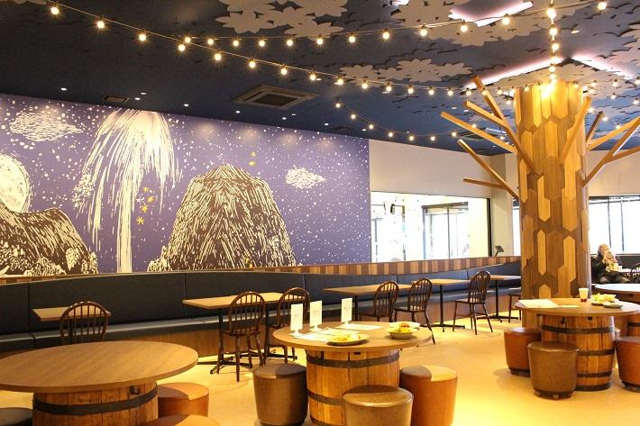 ムーミンバレーパーク最大のレストラン「ムーミン谷の食堂」