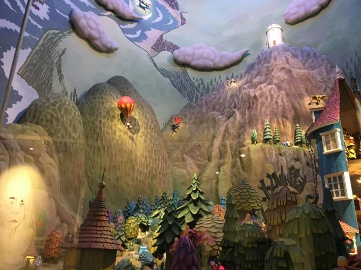 飯能市ムーミンバレーパーク内コケムスにあるムーミン谷の巨大ジオラマ