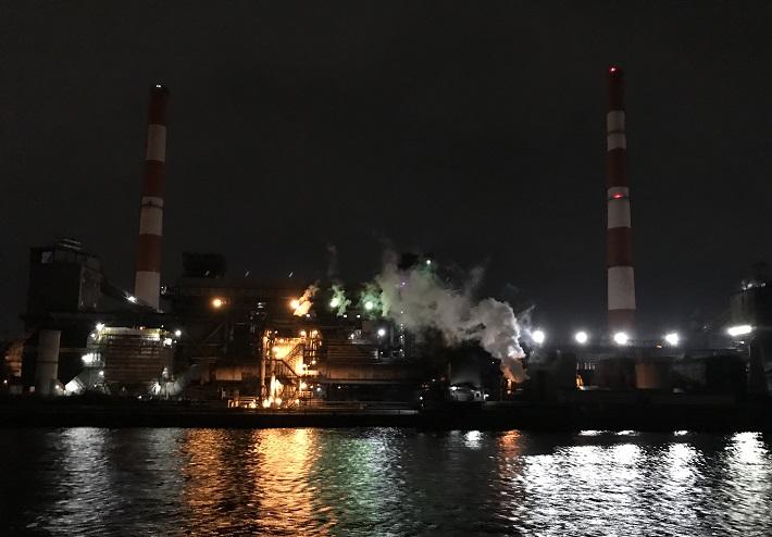 工場夜景クルーズ 五井火力発電所