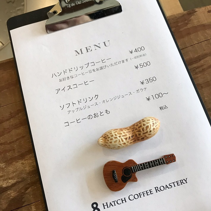 HATCH COFFEE ROASTERYメニュー表