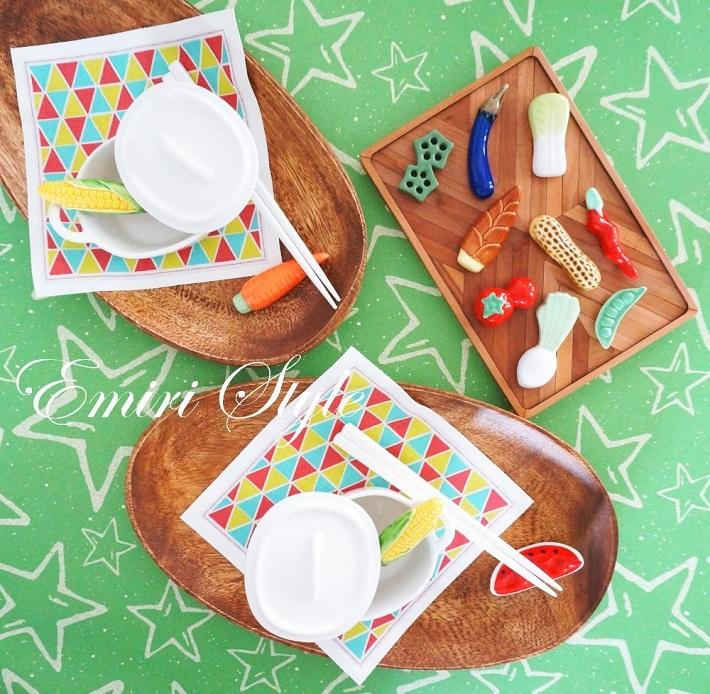 子どもの誕生日パーティーアイデア!野菜の箸置きで食育もできちゃう