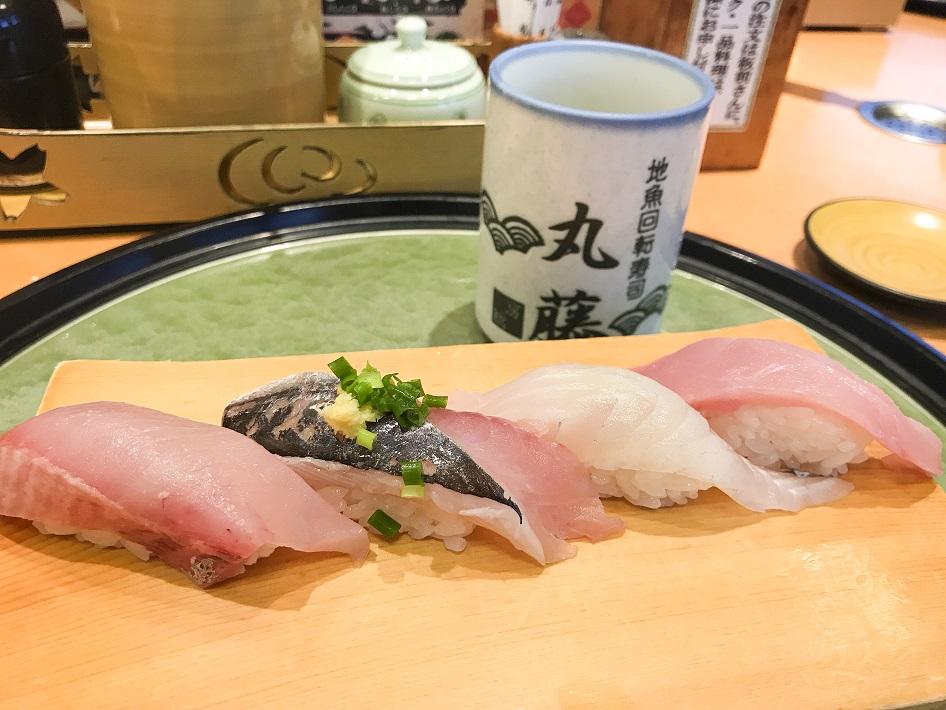 千葉県鴨川市の地魚回転寿司丸藤のにぎり寿司