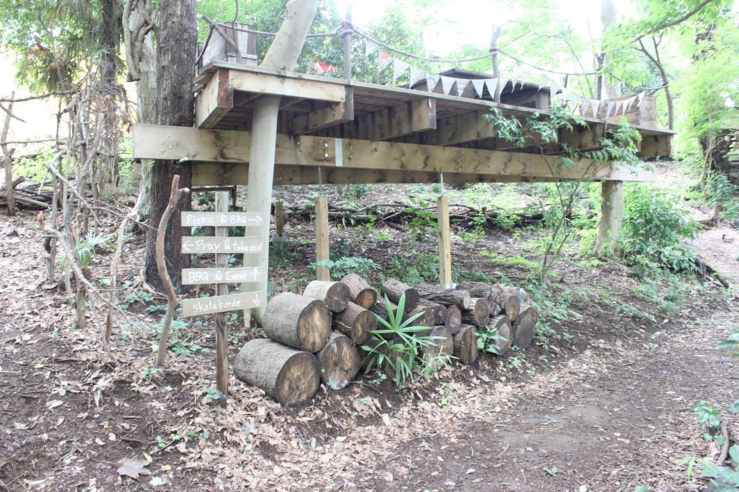 ローカルローカルガーデンの森林アウトドアデッキ