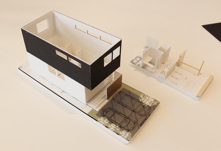 アールプラスハウス成田の新築一戸建ての模型